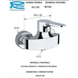Duş üçün Su Qarışdırıcı Aquaelite WС31