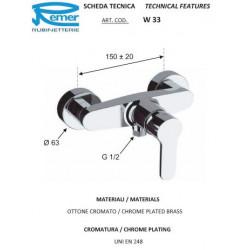 Duş üçün Su Qarışdırıcı Aquaelite W33